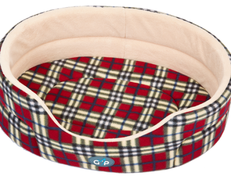Gor Pets Argyll Standard Bed Red Check - The Dog Demands, [product_dog accessories]