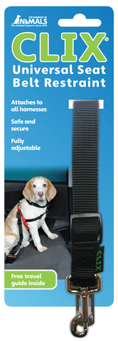 Clix Universal Seat Belt Restraint - The Dog Demands, [product_dog accessories]