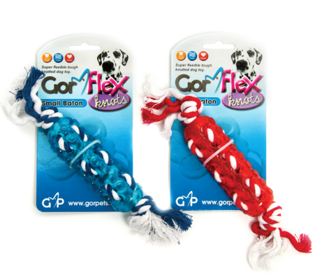 Gor Flex Knots Baton - Blue/Red - The Dog Demands, [product_dog accessories]