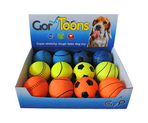 Gor Toons Sports Balls  (6cm) - Price per item - The Dog Demands, [product_dog accessories]
