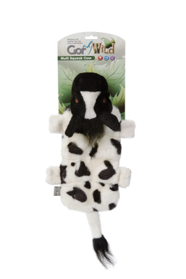 Gor Wild Multi-squeak Cow (30cm) - The Dog Demands, [product_dog accessories]