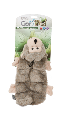 Gor Wild Multi-squeak Monkey (30cm) - The Dog Demands, [product_dog accessories]
