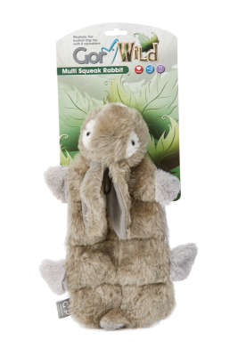 Gor Wild Multi-squeak Rabbit (30cm) - The Dog Demands, [product_dog accessories]