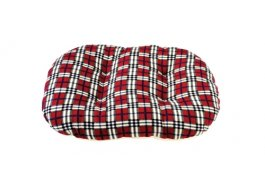 Gor Pets Argyll Oval Cushion Red Check - The Dog Demands, [product_dog accessories]