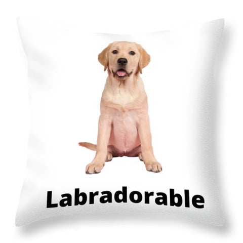Labradorable - Throw Pillow