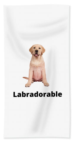 Labradorable - Beach Towel