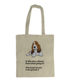 EarthAware Organic Spring Tote basset 2 - ears to the ground !!!! - The Dog Demands, [product_dog accessories]