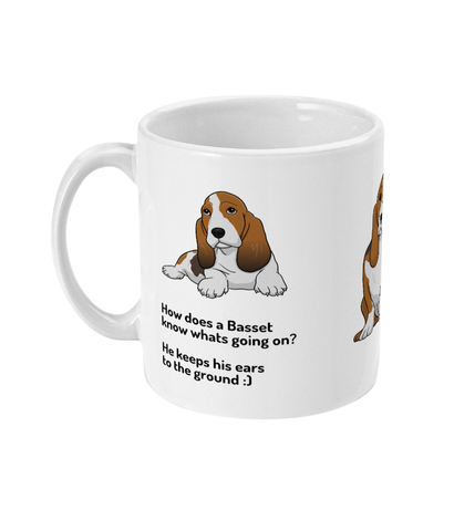 Mug Basset ears to the ground - The Dog Demands, [product_dog accessories]