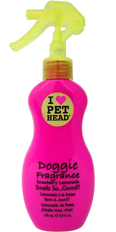 Pet Head Doggie Fragrance 175ml Strawberry/Lemon - The Dog Demands, [product_dog accessories]