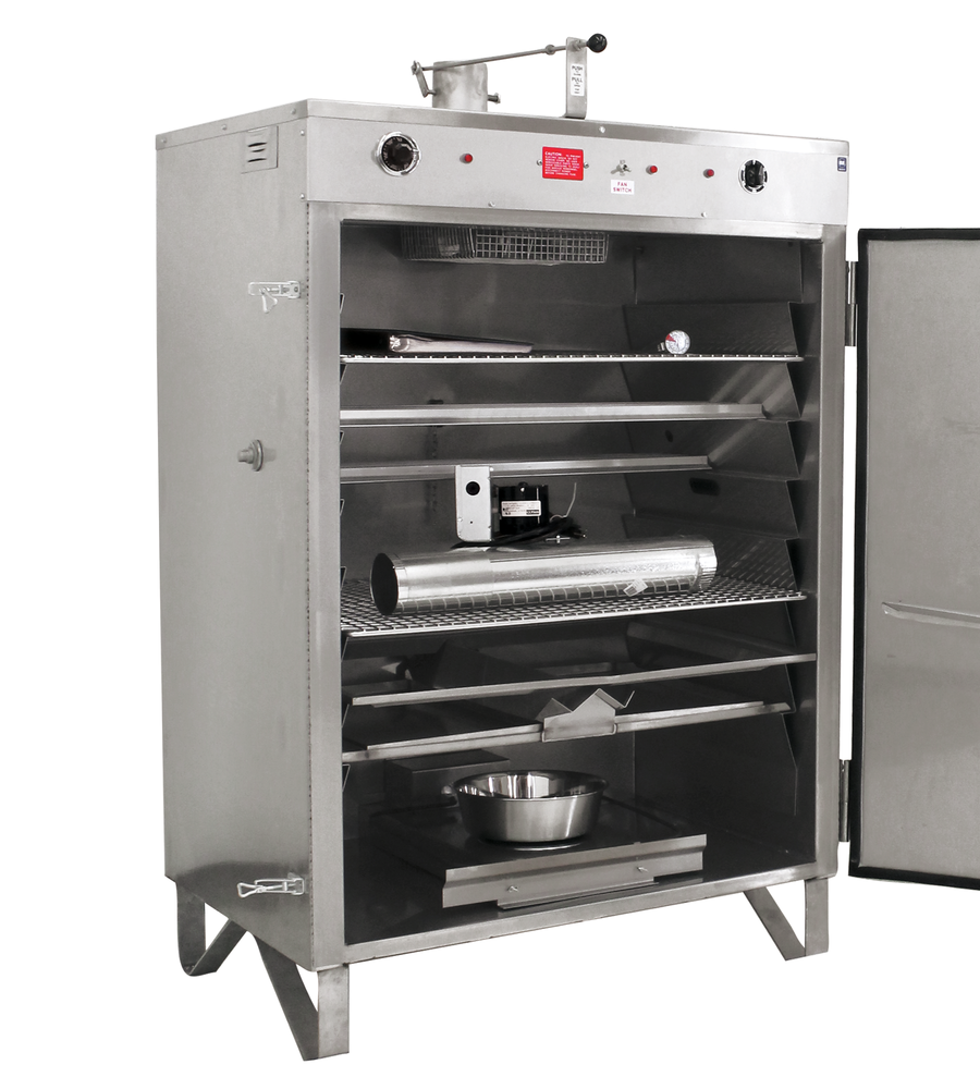 Model 150SS Handload Smoker, Door Open - Pro Smoker 'N Roaster