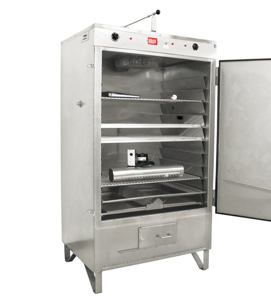 Model 300SS Handload Smoker, Door Open - Pro Smoker 'N Roaster