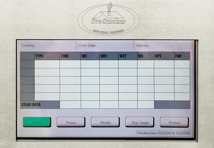 Touch Screen Smokehouse Controls - Pro Smoker 'N Roaster