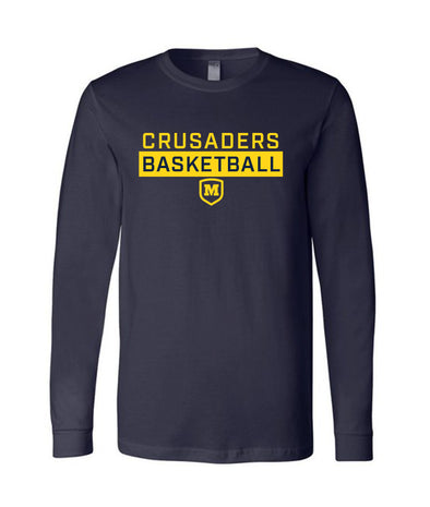 Crusader Basketball Long Sleeve T-Shirt