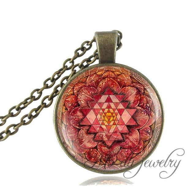 Buddhist sacred geometry pendant necklace super shop stop necklace buddhist sacred geometry pendant necklace aloadofball Gallery