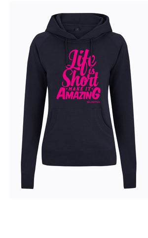 SURF Hoody : Navy Ladies Fit