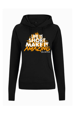 SPLASH Hoody : Black Ladies Fit