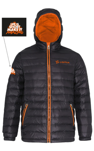 LISMIA Padded Jacket Black/Orange