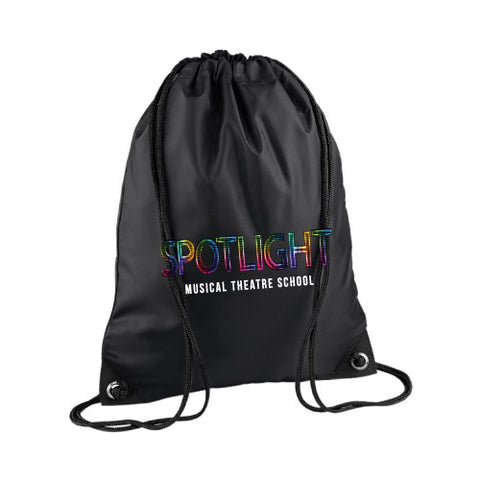Spotlight Drawstring Bag Black