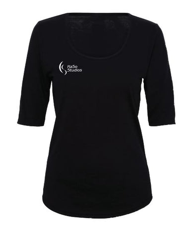 KaSo Studios Ladies Workout Top 1/2 Sleeve