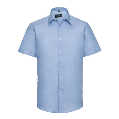 Mens Dress Shirt - Tailored Fit Short Sleeve