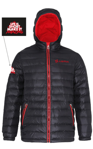 LISMIA Padded Jacket Black/Red