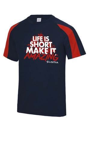 SPLASH Gym Tee : Navy/Red