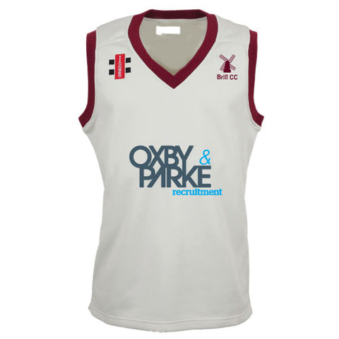 Brill CC Cricket Slipover Maroon Trim