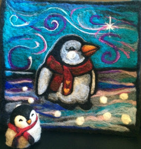 From Farm to Factory, to Needle Felting Art by Leah Wilson