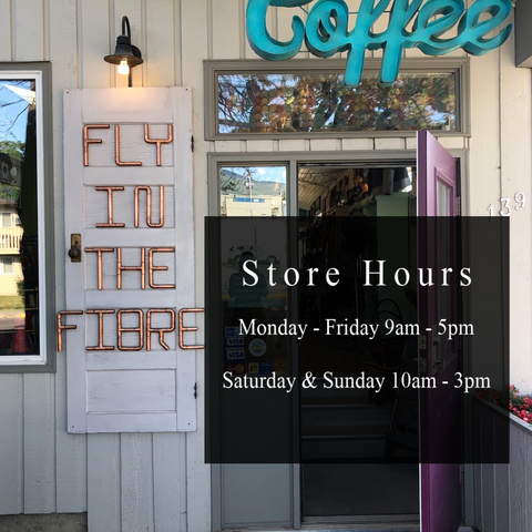 Fly in the Fibre | Store Hours | Creston BC