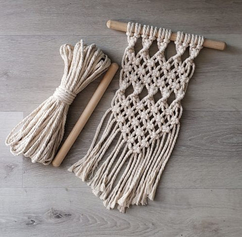 DIY Small Macrame Wall Hanging Kit | Aster & Vine | Fly in the Fibre | Creston BC