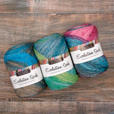 Evolution Sock Yarn | Estelle Yarns | Fly in the Fibre | Creston BC