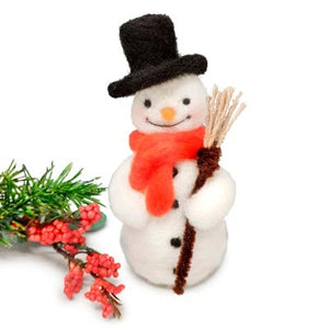Festive Snowman | Needle Felting Kit | Fly in the Fibre | Creston BC