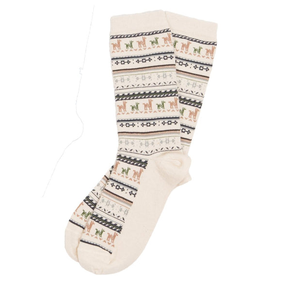 Print Alpaca Sock | Pokoloko | Fly in the Fibre | Creston BC