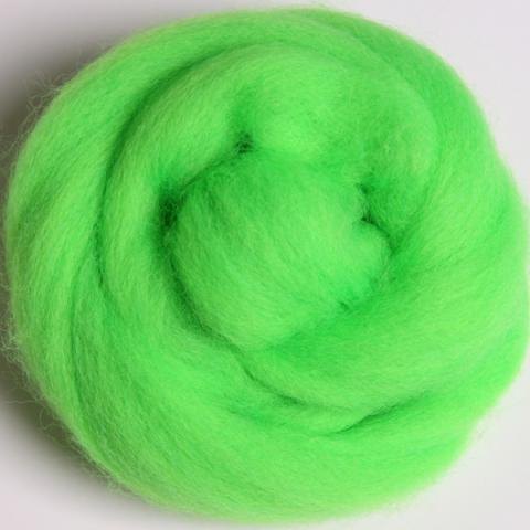 Fluo. Lime | Corriedale Top | Ashford | Fly in the Fibre | Creston BC