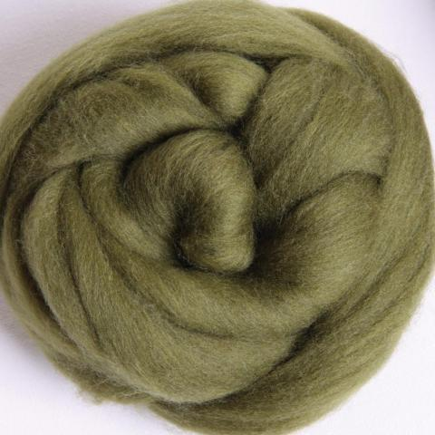 Olive | Corriedale Top | Ashford | Fly in the Fibre | Creston BC