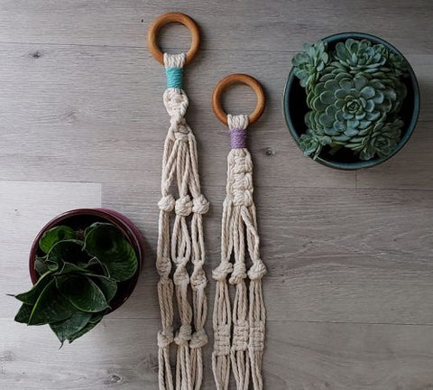 Macrame Plant Hanger Kit | Aster & Vine | Fly in the Fibre | Creston BC