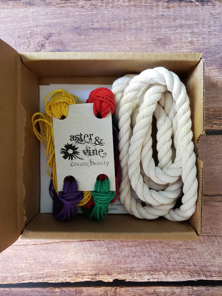 DIY Macrame Rainbow Kit | Aster & Vine | Fly in the Fibre | Creston BC