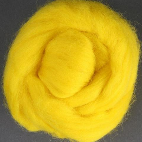 Yellow | Corriedale Top | Ashford | Fly in the Fibre | Creston BC