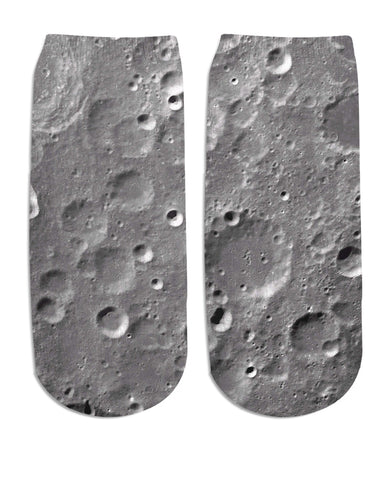 Moon Surface Ankle Socks