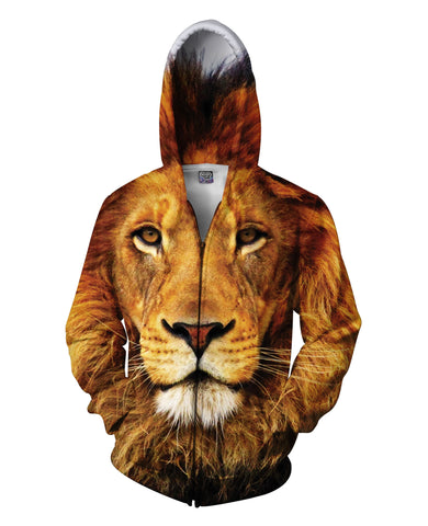 Lion Zip-Up Hoodie - The Peep Hole Store
