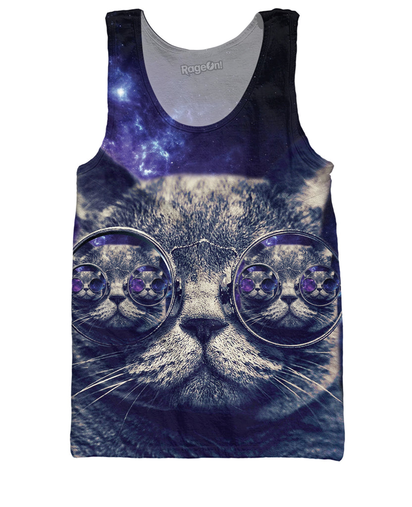 Hipster Cat Tank Top - The Peep Hole Store