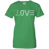 Image of irish green love mountain tshirt the peep hole store