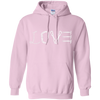 Image of light pink pullover the peep hole store
