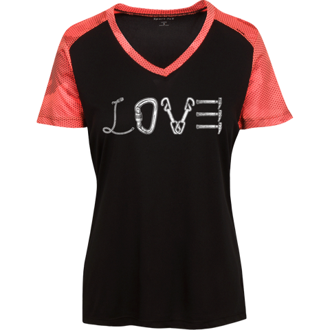 Love Mountain Ladies' Polyester CamoHex T-Shirt