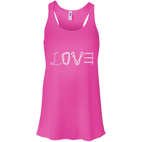 neon pink love mountain tshirt the peep hole store