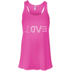 Image of neon pink love mountain tshirt the peep hole store