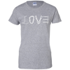 Image of sport grey love mountain tshirt the peep hole store