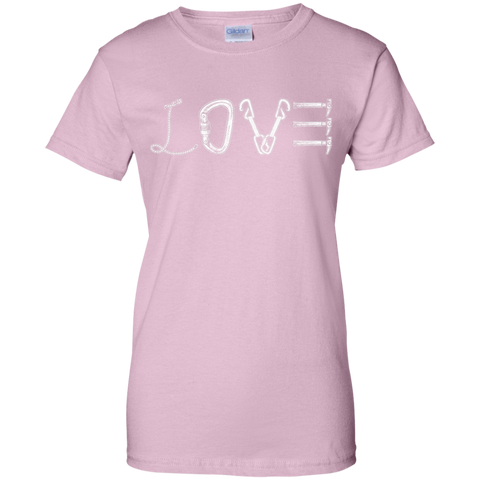 light pink love mountain tshirt the peep hole store