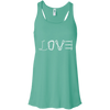 Image of teal love mountain tshirt the peep hole store