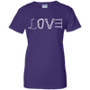 Image of purple love mountain tshirt the peep hole store